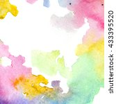 colored watercolor background.... | Shutterstock . vector #433395520