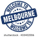 welcome to melbourne. stamp | Shutterstock .eps vector #433402006