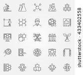 biotechnology icons set  ... | Shutterstock .eps vector #433402558