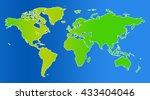 similar world map blank for... | Shutterstock . vector #433404046