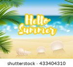 sandy beach cost summer... | Shutterstock .eps vector #433404310