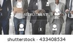recruitment hiring career job... | Shutterstock . vector #433408534