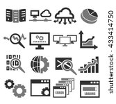 database management system icon ... | Shutterstock .eps vector #433414750