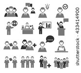 employees icon set | Shutterstock .eps vector #433414900
