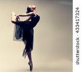 beautiful ballet dancer  modern ... | Shutterstock . vector #433417324