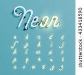 realistic neon character... | Shutterstock .eps vector #433418590