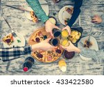 people clanging glasses... | Shutterstock . vector #433422580