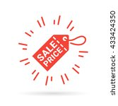 red discount label sale price... | Shutterstock .eps vector #433424350