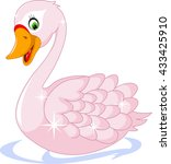 cute goose cartoon   Shutterstock .eps vector #433425910