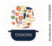 cooking collection background | Shutterstock .eps vector #433426840