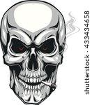 evil skull with cigarette | Shutterstock .eps vector #433434658
