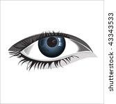 woman eye  isolated over... | Shutterstock .eps vector #43343533