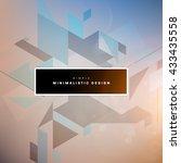 geometric vector background.... | Shutterstock .eps vector #433435558