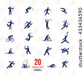 twenty sports icons set. symbol ... | Shutterstock .eps vector #433436590