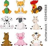cartoon funny farm animals | Shutterstock . vector #433440868