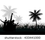 silhouettes and posters with... | Shutterstock .eps vector #433441000