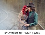 young couple  elegant man in a... | Shutterstock . vector #433441288