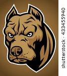 pit bull head | Shutterstock .eps vector #433455940