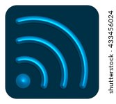 3d line neon web icon  blue...