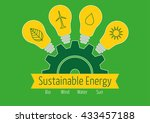 sustainable energy icons in... | Shutterstock .eps vector #433457188