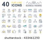 set vector line icons in flat... | Shutterstock .eps vector #433461250