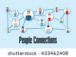 people design. connection icon. ... | Shutterstock .eps vector #433462408