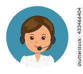 avatar girl operator. woman...