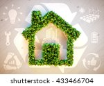 sustainable living   3d... | Shutterstock . vector #433466704