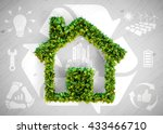 sustainable living   3d... | Shutterstock . vector #433466710
