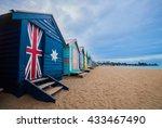 brighton beach bathing boxes in ...   Shutterstock . vector #433467490