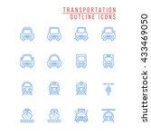 transportation outline icons | Shutterstock .eps vector #433469050