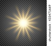 vector sun light lens flare... | Shutterstock .eps vector #433471669