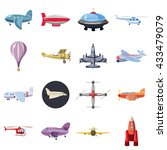 aviation icons set  cartoon... | Shutterstock . vector #433479079