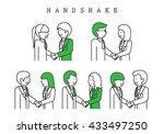 handshake   isolated on white... | Shutterstock .eps vector #433497250