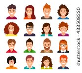 collection of people avatars.... | Shutterstock .eps vector #433508230