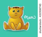 cat print cat graphic cat... | Shutterstock .eps vector #433508740