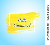 hello summer background. vector ... | Shutterstock .eps vector #433511599