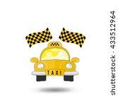 yellow taxi car | Shutterstock . vector #433512964