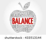 balance apple word cloud ... | Shutterstock . vector #433513144