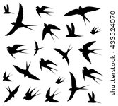 birds icons vector illustration | Shutterstock .eps vector #433524070