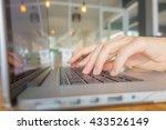 closeup of business woman hand... | Shutterstock . vector #433526149