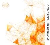 3d orange abstract mesh... | Shutterstock .eps vector #433527670
