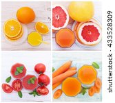 fruit and vegetable smoothies...   Shutterstock . vector #433528309