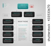 modern web design template with ... | Shutterstock .eps vector #433533670