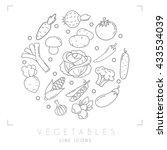 set of line vegetable icons.... | Shutterstock .eps vector #433534039