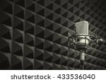 microphone in the studio with... | Shutterstock . vector #433536040