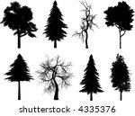 tree silhouettes   vector | Shutterstock .eps vector #4335376