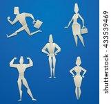 vector set of cartoon images of ... | Shutterstock .eps vector #433539469