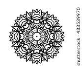 mandala. ethnic decorative...   Shutterstock .eps vector #433539970