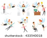 vector set of cartoon images of ... | Shutterstock .eps vector #433540018